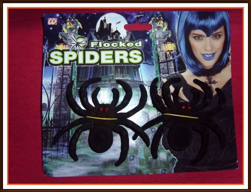 2 Spinnen 10 cm Halloween (Krabbeltiere Kostüm)