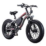 Wheel-hy Vélo de Montagne Pliable pour vélo électrique, 36V10.4AH Ebike Shimano 21 Vitesse Neige VTT Vélo Électrique Pliant