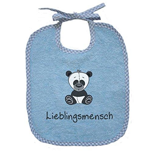 Baby-Lätzchen für Mädchen und Jungen in hellblau 0025 - zum Binden - Persönliches Design - Geschenkideen für • Geburt • Taufe • Geburtstag
