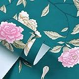 GAOLILI Modern Minimalist Flores Y Pájaros Papel De Tejido No Tejido Azul Jardín Pasta Salón Dormitorio Paredes Papel Pintado Ambiental Tejidos Tejidos Refinado Elegancia