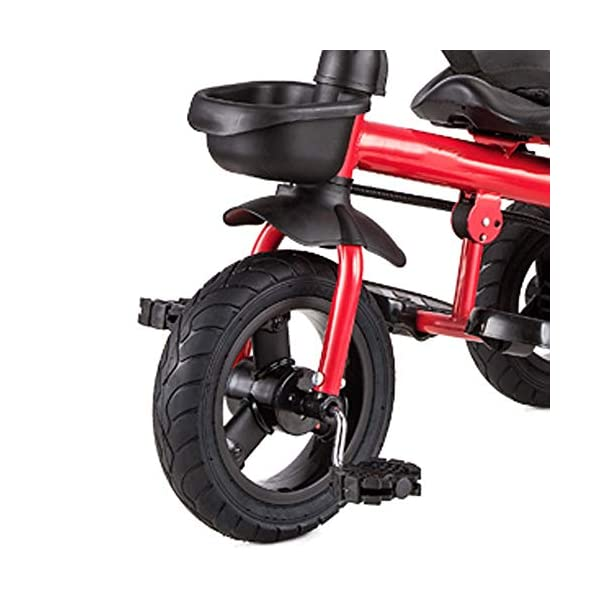 LRHD Baby Bicycle 3 Wheels, Baby Stroller, Children Tricycle, 3-in-1 Children Tricycle, Bicycle, 1-5 Year Old Children Pushing and Riding Bicycle, Children, Birthday Gift LRHD 1.[ Perfect Growth Partner]: Tricycle is suitable for children between 18 months and 6 years old. Four riding styles: baby tricycle, steering tricycle, learning to ride tricycle and classic tricycle. Let this tricycle grow up with your children. 2. [Stable safety]: tricycles for children are equipped with safety belts to increase the safety of children; In addition, the double braking system provides greater protection for children. It also has a foldable foot pedal that can be unfolded/folded when you need it. 3. [[Best Gift] Two-in-one Bicycle is the best birthday gift for a baby to learn to ride a bicycle. Excellent indoor baby walker toys can cultivate children's balance ability and help children acquire balance, steering, coordination and self-confidence from an early age. 6