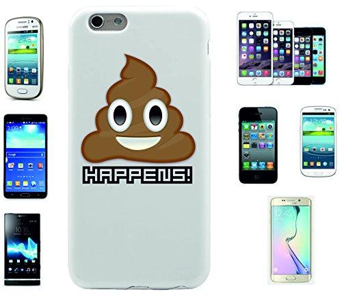 """Preisvergleich Produktbild Smartphone Case Apple IPhone 6+ Plus / 6S+ Plus """"Kothäufchen Scheisse, Kacke HAPPENS"""", der wohl schönste Smartphone Schutz aller Zeiten."""