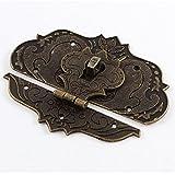 Sourcingmap® 97mmx73mm Koffer Jewelry Box Haspe Latch Lock Antik Bronze Ton