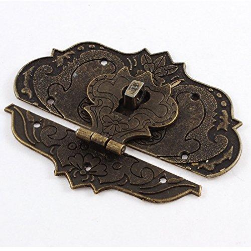 Sourcingmap 97mmx73mm Koffer Jewelry Box Haspe Latch Lock Antik Bronze Ton