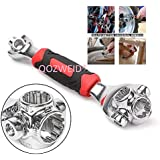 HK MART 48 in 1 Socket Wrench Tools Works with Spline Bolts Torx 360 Degree 6-Point Universal Furniture Car Repair Hand Tool Handles up to 135kg of Pressure Universal Hand Tool Wrench