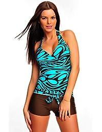 Trendiger Push Up Tankini / Bandeau / Hotpants / Badeanzug Figur Optimizer verschiedene Farben / Designs f2512