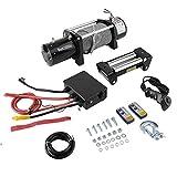 CremeBruluee 13000lb Elettrico di Recupero Winch Kit Telecomando ATV Camion 12V