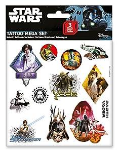 CRAZE 55671-Tattoo Mega Set Star Wars, 3Hojas, Colores Surtidos