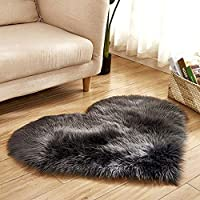 TAOtTAO Wool Imitation Sheepskin Rugs Faux Fur Non Slip Bedroom Shaggy Carpet Mats (B 40x50cm)