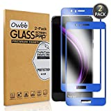 [2 Pezzi] Owbb Blu Scuro Vetro Temperato Pellicola Per Huawei Honor 8 Full Coverage Protettiva Protezione 9H Durezza 99% Alta Trasparente