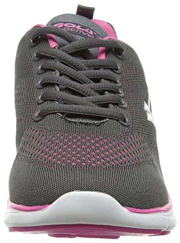 Gola Nebula, Chaussures de Running Entrainement Femme Gris (Charcoal/Pink)