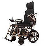 MLNRDDLY Sedia a rotelle anziana, Sedia a rotelle anziana elettrica Pieghevole Leggero Intelligente Portatile Automatico Multi-Funzione Scooter-09