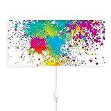 banjado Glas Wandleuchte, Wandlampe 56cm x 26cm, Design LED Leuchte innen, Wandbeleuchtung mit Schalter, Leuchte mit Motiv Farbspritzer, Wandlampe:mit 2x 6W LED Leuchtmittel