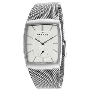 Skagen Herren-Armbanduhr XL Analog Quarz Edelstahl 915XLSSS