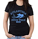 Atlantica Swim Team Girlie Shirt | Meerjungfrau | Damen | Frauen | Wasser | Trickfilm | 90er | Mermaid | Kult | Fun (S)