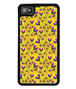 Fuson Premium Grass Flowers Metal Printed with Hard Plastic Back Case Cover for Blackberry Z10