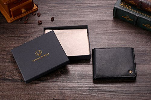 51yl 8xe9ZL - Cronus & Rhea® | Luxury Money Clip Exclusive Leather (Ladon) | Card Holder - Card Case - Purse - Wallet | Real leather | With elegant gift box | Men - Women