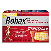Robax HeatWraps (3 Count), Thermacare Lower Back & Hip, S - XL, Non-medicated Pain Therapy