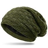 CASPAR MU133 warme Feinstrick Beanie mit weichem Fleece Gefüttert, Farbe:oliv grün;Größe:One Size