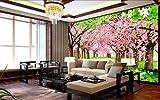 Fototapete Vlies Wallpaper 3D Tapete Wanddeko Moderne Wandbilder Anpassbare romantische kirschblüten in großen wandgemälde im kirschbaum kirschbäume