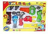 Coolbitz Junior Kinder Kinder Kleinkinder Werkzeug-Set mit Kulleraugen–11Stück Tool Kit–Pretend Play Toys