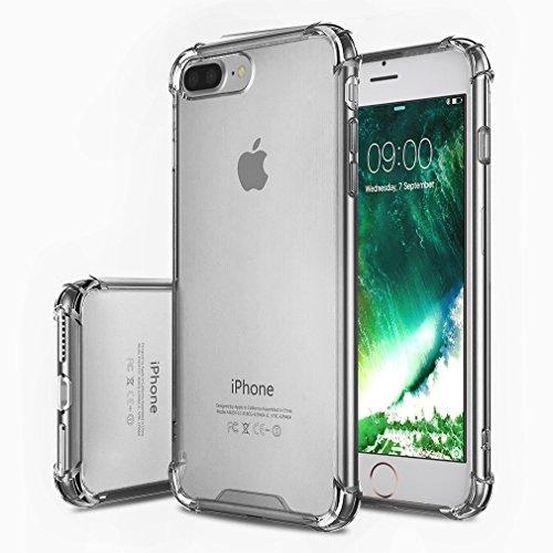 FIRST2SAVVV Nero iPhone 7 plus 5.5 Shock Assorbente Custodia, Apple iPhone 7 plus Case Custodia Shock-Absorption Bumper Cover e Anti-Graffio - XJPJ-I7-5.5-C01 grigio