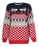 Pour femme pour homme Motif jacquard Noël Renne de Noël s'embrassant fantaisie Pull tricoté Top