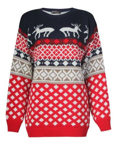 Pour Femme Motif Jacquard pour homme s'embrassant de Noël Renne de Noël en tricot pull pour femme