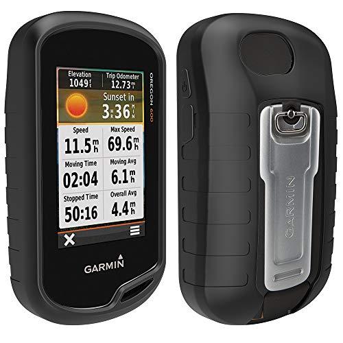 TUSITA Schutzhülle mit Displayschutzfolie für Garmin Oregon 600 / 600t / 650 / 650t / 700/750 / 750t Handheld GPS Silikon Hautschutzhülle (SCHWARZ)