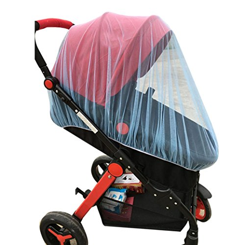 Y56 Baby-Krippe Seat Moskitonetz Newborn Curtain Car Seat Insect Netting Canopy Cover (Blau)