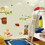 Malilove Tragen Eule Hirsch Eichhörnchen Vogel Tier Wand Aufkleber Für Kinder Zimmer Einrichtung Cartoon Wall Art Zoo Kinder Geschenk Diy Home Aufkleber