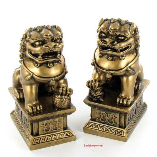 CHIENS FU (OU LIONS CHINOIS) - Feng Shui Protection Maison - La paire