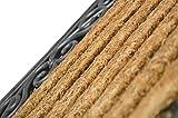 1 x Premium Fußmatte aus Gummi und Kokosfasern, 76 x 46 cm | ? 3,5 kg Fußabtreter verhindert verrutschen ? Robuste & repräsentative Schmutzfangmatte, Sauberlaufmatte, Schmutzmatte ? Fußabstreifer für Eingangsbereich von Haus und Wohnung Vergleich