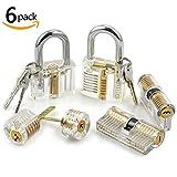 godlock 6pcs Locks Kit de transparente Visible Cutaway Práctica Candado Cerradura para puerta Habilidad de formación Pick para cerrajero principiante