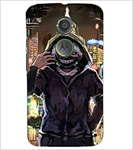 PrintDhaba Scary Face D-4231 Back Case Cover for MOTOROLA MOTO X2 (Multi-Coloured)