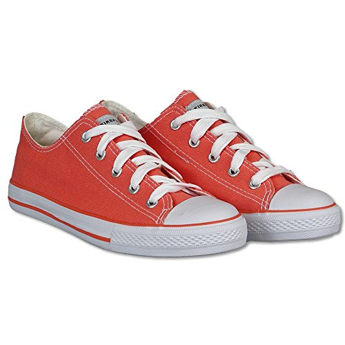 Firefly Sneaker Canvas low - Orange - 38 (Orange Schuhe Canvas)
