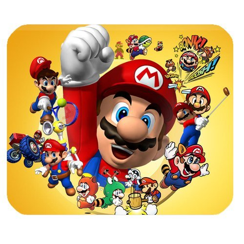 Custom Super Mario Bros Mouse Pad Standard Rectangle Mousepad DE-WP688