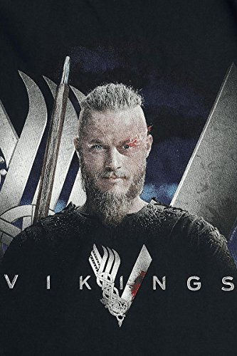 Vikings Ragnar T-Shirt Schwarz Schwarz