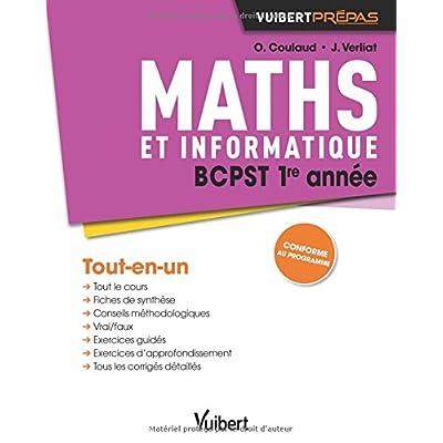 Maths BCPST 1re année - Cours, synthèse et exercices corrigés