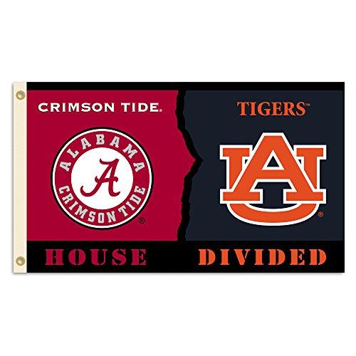 BSI Alabama vs. Auburn 3Ft. X 5Ft. Flagge mit Ösen-Rivalität House unterteilt