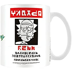 Rick and Morty Wanted - Taza de café (cerámica, 7,9 x 11 x 9,3 cm), multicolor