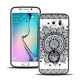Hülle für Samsung GalaxyS6 Edge Schutzhülle Silikon Bumper Slim Cover Handyhülle mit Ring LetiStore - Mandala Design 3