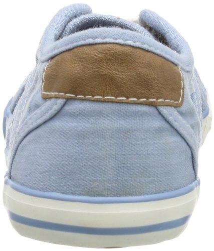 Mustang 5803-305-832, Unisex-Kinder Schnürhalbschuhe Blau (pastellblau 832)