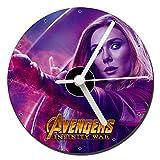 The Avengers Infinity War Wanda Maximoff Elizabeth Olsen Orologio CD Clock 12cm