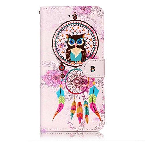 iPhone 8 Plus / iPhone 7 Plus Hülle, Sunroyal Flip Handyhülle für iPhone 8 Plus / iPhone 7 Plus 5,5 zoll Diamant Lederhülle Tasche PU leder Hülle Portemonnaie Bling Schutzhülle im Bookstyle mit Standf Traumfänger