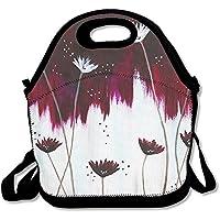 Preisvergleich für Lunch Tote Floral Lunch-Boxen Lunchpaket Handtasche Lebensmittel Aufbewahrung passend für Schule Reisen Arbeit Outdoor