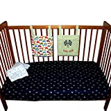 Kadambaby - Premium 100% cotton flat crib sheet - Baby Bedding - Digger Truck