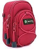 Baxxtar Redstar V4 - Funda para cámara (con Correa para Hombro y Pasador para cinturón) - Color Rojo - para Coolpix A900 A1000 - Lumix DC TZ200 TZ95 TZ90 DMC TZ80 TZ100 LX15 - PowerShot SX730 SX740