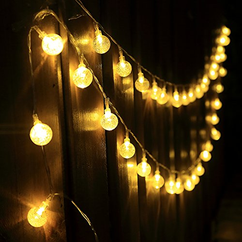 InnooLight 4,6M 40 Led Catena Luminosa Luci Natalizie a Batterie 3*AA Luci Stringa Luci Decorative Stringa Led a Sfera per Feste, Matrimonio, Giardino, Natale, Anno Nuovo, ecc (Bianco caldo)