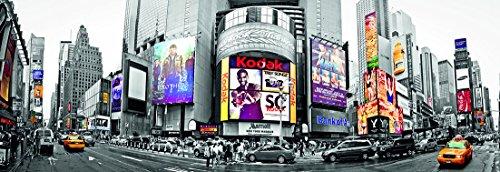 17007 Papier Peint Photo Mural INTISSÉ TIMES SQUARE PANORAMA 350 x 100 cm in 2 parties 350cm x 50 cm impression numérique photoréaliste de haute qualité Poster XXL New York Manhattan Etats-Unis Amérique Nature Paysage Fond d'écran Affiches papier peint l'image papier peint
